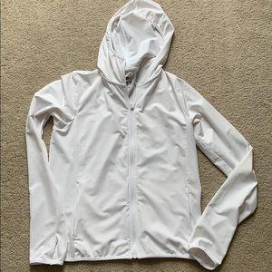 uniqlo airism uv cut mesh hoodie sm white